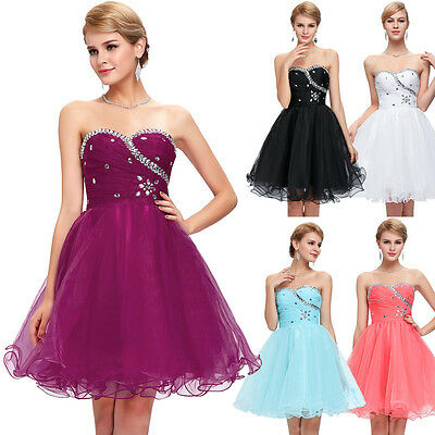 Teens Short Mini Formal Prom Cocktail Evening Party Dresses Homecoming Ball Gown