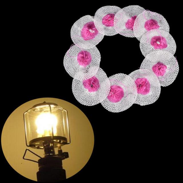 10pcs Mesh Camping Lantern Mantles Lamp Mantle Paraffin Lamp Gas Lamp Cover FB