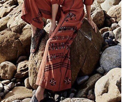 New Embroidered Peregrine Neck Sz Free V People 6 Jumpsuit 168 Short Sleeve ASqUArw