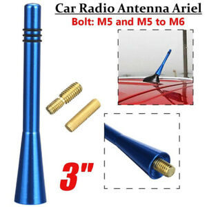 3-034-Blue-Auto-Bee-Sting-Stubby-Short-Car-Radio-FM-AM-Aerial-Ariel-Mast-Antenna-AU