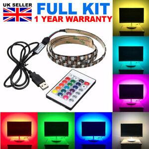 USB-1M-5M-LIGHT-RGB-COLOR-5050-LED-STRIP-LIGHT-PC-BACKLIGHT-FOR-LAP-TV-XBOX-PS4