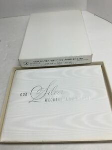 Vintage-50Th-Anniversary-Silver-Wedding-Guest-Book-6X8-White-Rayon-050316