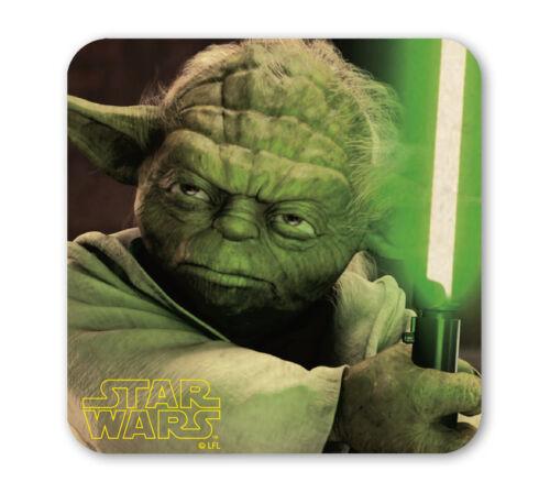 Jedi Meister Film LOGOSHIRT Star Wars Yoda Coaster Untersetzer Bierdeckel