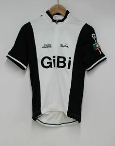 RAPHA-Men-039-s-White-Black-Wool-Blend-Trade-Team-GiBi-Cycling-Jersey-XS-BNWT