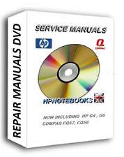 NUOVO Portatile Manuali di riparazione in assistenza CD DVD include HP Compaq g4 g6 g62 cq57 cq58