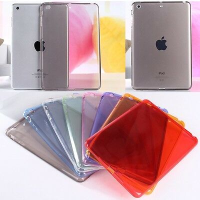 Crystal Soft TPU Transparent Silicone Clear Case Cover For iPad & Mini iPad Pro
