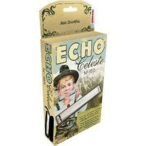 Hohner 455 Echo Celeste Tremolo Tuned Harmonica Key of D, Includes Case, 455BX-D
