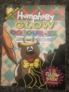 VINTAGE-Humphrey-Bear-GLOW-ZONE-Colour-In-Book-1997-RARE-New