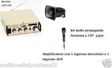 TROMBA E AMPLIFICATORE USB AUX INGRESSO MICROFONO KARAOKE RADIO FM 12V 220V
