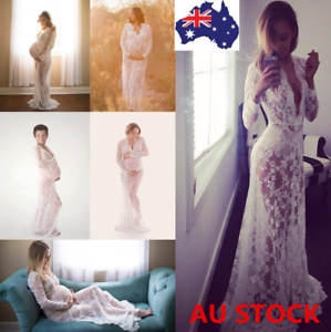 Pregnant-Women-Lace-Sheer-Maternity-Gown-Maxi-Dress-Photography-Props-12-Style