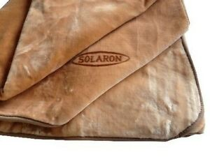 Solaron Korean Blanket Thick Mink Plush queen size light brown new