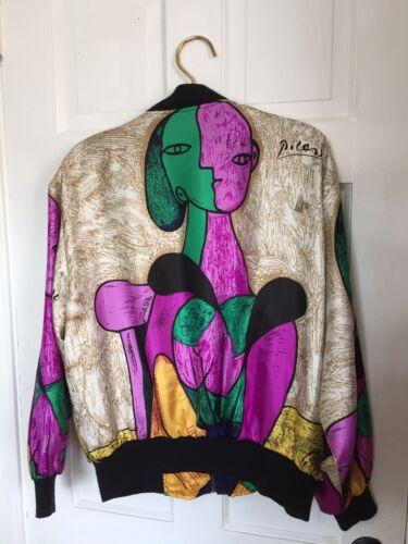 Vintage Picasso Reversible Parachute Bomber Jacket