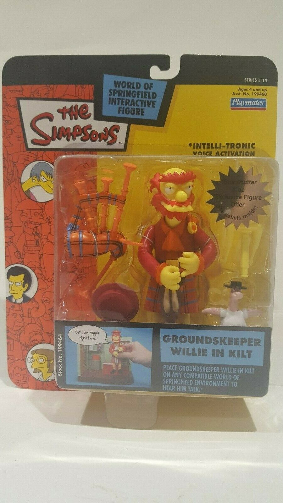 THE SIMPSONS WORLD OF SPRINGFIELD GROUNDSKEEPER WILLIE IN KILT INTERACTIVE FIG.