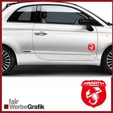 2 Stück Set Fiat Abarth Sticker Style Punto Skorpion 500 Dekor Aufkleber #105
