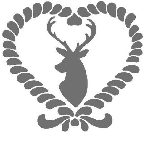 Country Hirsch shabby Deer gabarit Living coussin Maison de campagne pochoir stencil