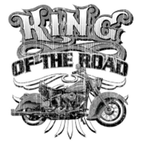 T shirt noir vintage HD Biker Chopper /& oldschoolmotiv modèle King of the road