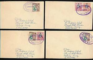 JAMAICA 1962 TRO PMKS OVALS CHARLES TOWN...MIDDLESEX...BUNKA TREE...BOG HOLE
