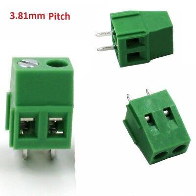 10pcs 2 Poles 3.81mm PCB Universal Screw Terminal Block.