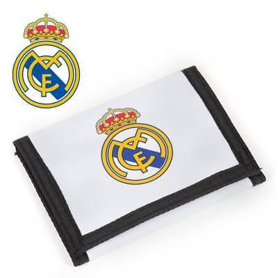 Real Madrid Portafoglio 12,2 X 9 X 1,5 Cm Bianco Turchese Calcio Portafoglio Velcro-mostra Il Titolo Originale Portare Più Convenienza Per Le Persone Nella Loro Vita Quotidiana