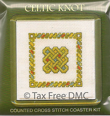 VAT Free Textile Heritage Counted Cross Stitch Kit Coaster Celtic Knot New