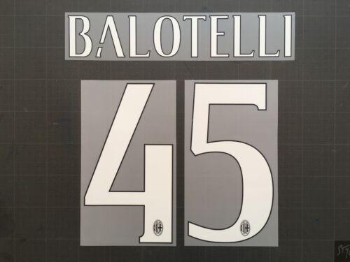 BALOTELLI 45 AC MILAN NAMESET FLOCAGE TRANSFERT STILSCREEN