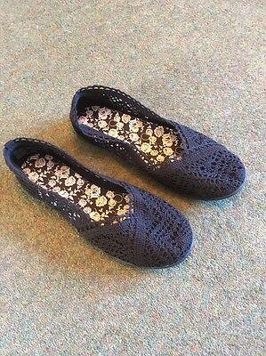 Faded Glory Señoras Zapatos en Azul Marino Talla 8