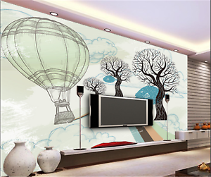 3D Cartoon Tree Path 7 Wallpaper Mural Paper Wall Print Wallpaper Murals UK Kyra