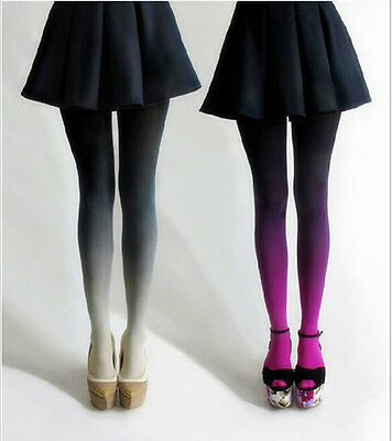 Sexy Women Unique Gradient Velvet Colors Skinny Pantyhose Stockings Tights Socks