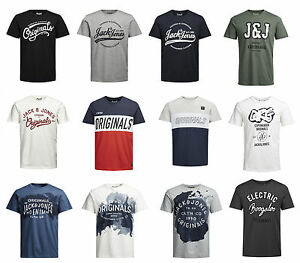 Jack-amp-Jones-T-Shirt-NY-Raffa-Paintstrok-Splat-Sew-vers-Farben