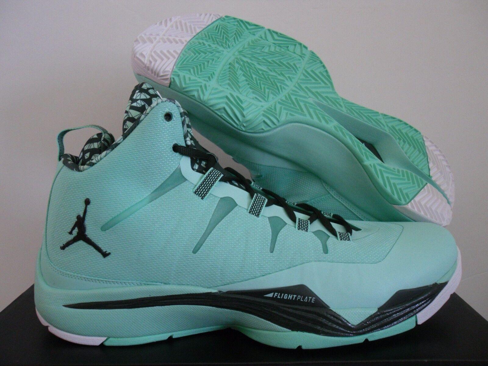 Nike air jordan 2 green glow-nero-white sz 14 [599945-330]