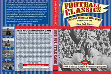 1959 NFL Championship Game at Memorial Stadium, Baltimore - Colts vs Giants DVD!
