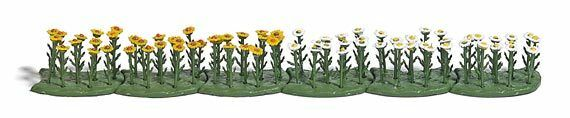 Busch x 70 Oxeye Daisies 1243 HO Scale