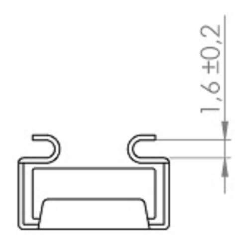8 Käfigmuttern M6 für Stahl-Rackschiene Käfigmutter Cagenuts Adam Hall 5651 NEU