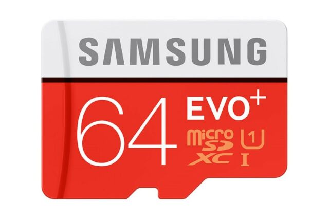 SAMSUNG MICRO SDXC EVO PLUS 64GB 80MB 64G 64 G GB UHS-1 U1 C10 MEMORY CARD ST HU