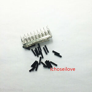 50 pcs Dupont Wire jumper 2.54mm pitch choice of housing female male header