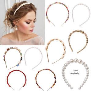 Fashion-Women-White-Pearl-Headband-Hairband-Hair-Band-Hoop-Hair-Accessories-Gift