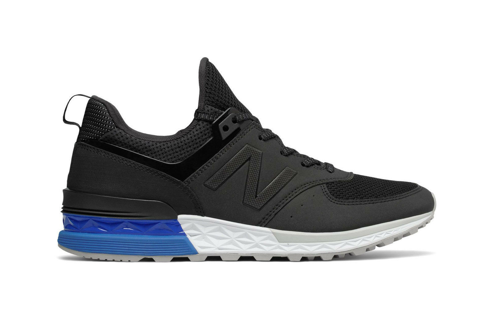 New Balance Men shoes MS574SCS Sport Classic Running Sneaker - Black White bluee