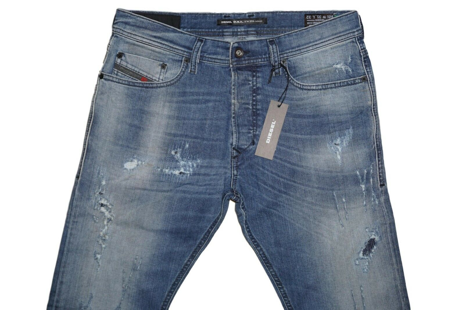 DIESEL TEPPHAR 0854Z SLIM CARred JEANS W34 L32 100% AUTHENTIC