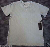 Dark By Fusion Men's Silver Gray Embellished V-neck Short Sleeve T Shirt Large