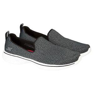 NEW-Skechers-Performance-Women-039-s-Go-Walk-4-Slip-On-Shoe-Black-Gray-Pick-Size
