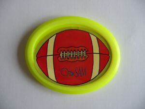 Palet, puck ovale jaune fluo pour table de Air Hockey