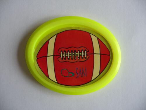 puck ovale jaune fluo pour table de Air Hockey Palet