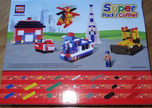 Super Pack BricTek Building Construction Toy 800 Pieces Block Brick 19001