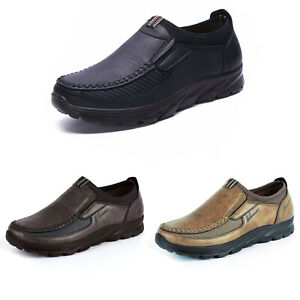 Mens-Retro-Loafers-Slip-On-Round-Toe-Oxford-Casual-Walking-Driving-Boat-Shoes