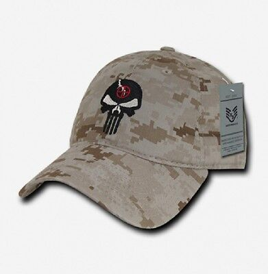 Us Rapdom Punisher Craft Skull Relaxed Graphic Cap Berretto Desert Digital Camo-mostra Il Titolo Originale
