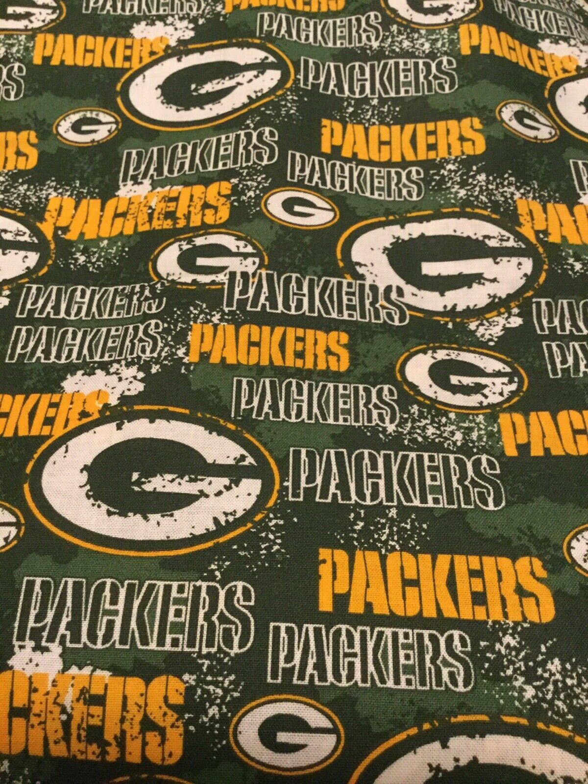 Nfl Green Bay Packers 100 Cotton Fabric 1 2 Yard For Sale Online Ebay