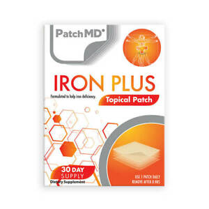 PatchMD Iron Plus Topical Patch - 30 Day Supplement Authentic- New Formula
