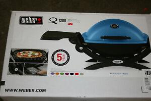 Weber Q1200 Propane Gas Grill - Blue
