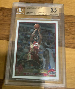 2003-04-LEBRON-JAMES-TOPPS-CHROME-111-ROOKIE-RC-BGS-9-5-GRADED-NICE-PSA-10