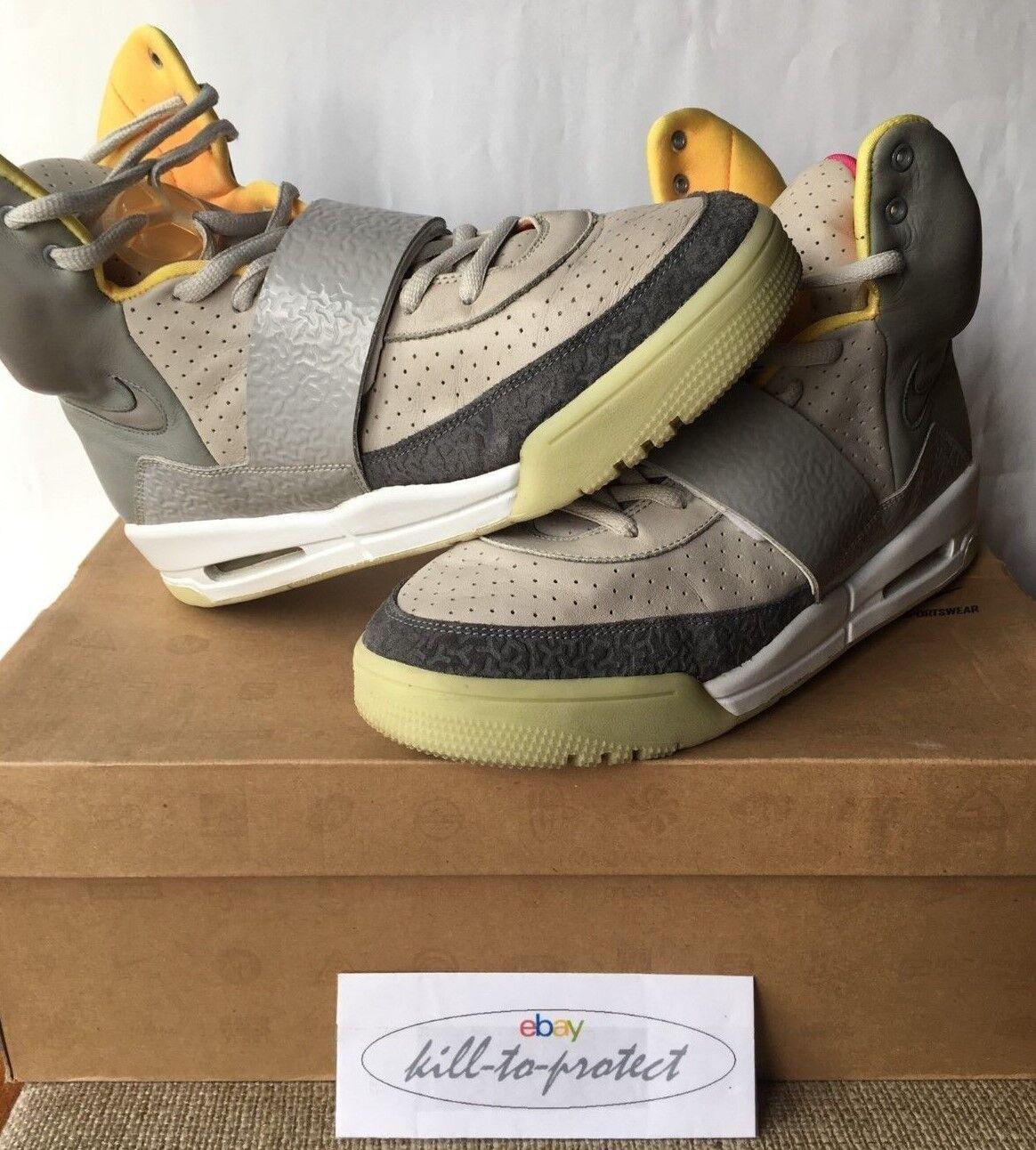 9b4cfc2536cc85 Nike Air Yeezy 1 One Zen Grey US 10 UK 9 Tan 366164-002 Glow Kanye ...
